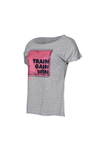 HMLHAILEY T-SHIRT S/S GRI MELANJ Kadın T-Shirt 100580979