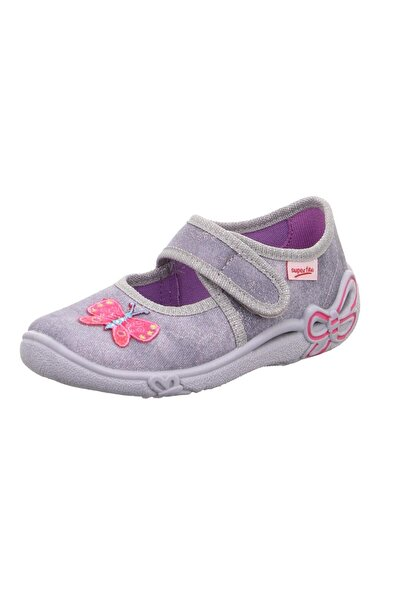 Kız Çocuk Mor Ev Ayakkabısı Panduf