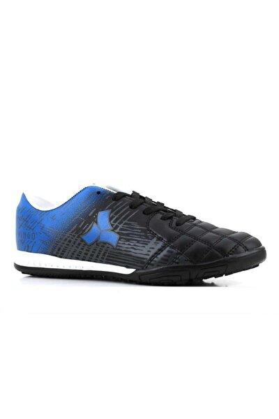 205 Erkek Siyah-mavi Halı Saha Futbol Ayakkabı