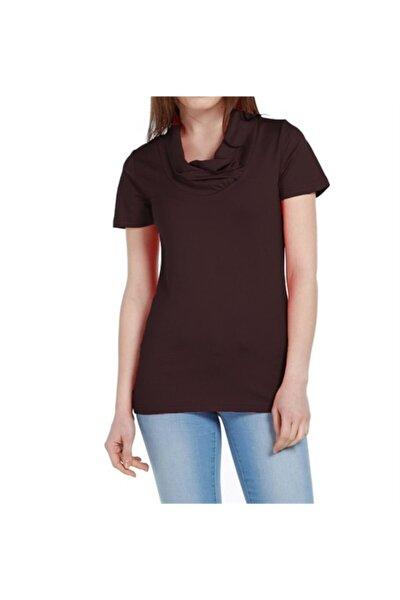 Kadın Siyah Degaje Tişört - Bga042835