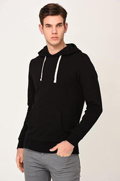 Erkek Siyah Sweatshirt