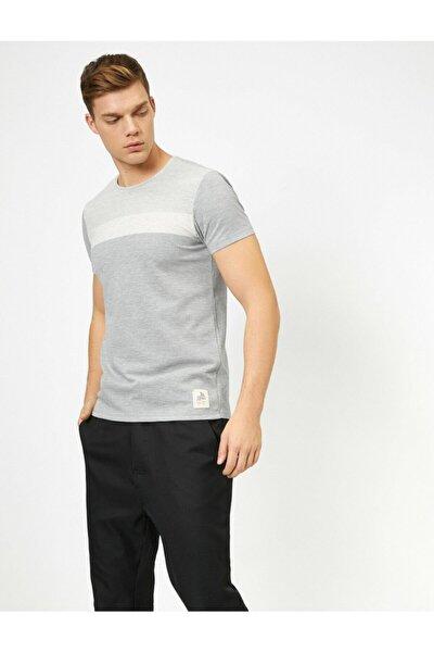 Erkek Gri Kısa Kollu Tshirt