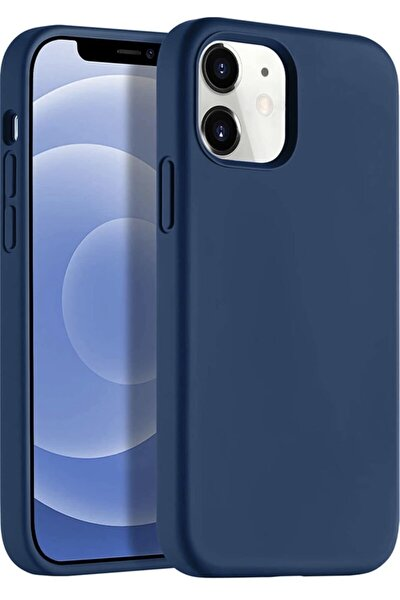 "Apple Iphone 12 6.1"" Soft Touch Altı Kapalı Liquid Silikon Lansman Kılıf"