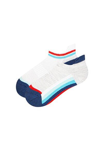 Çok Renkli Erkek Çocuk Colorful Strıpe 2li Patik Çorap