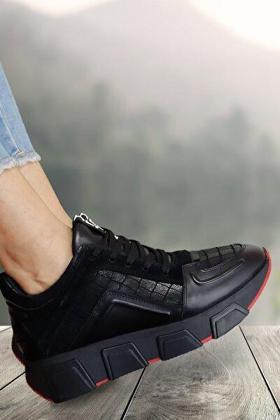 Kadın Siyah Trent Bağcıklı Sneaker Ayakkabı