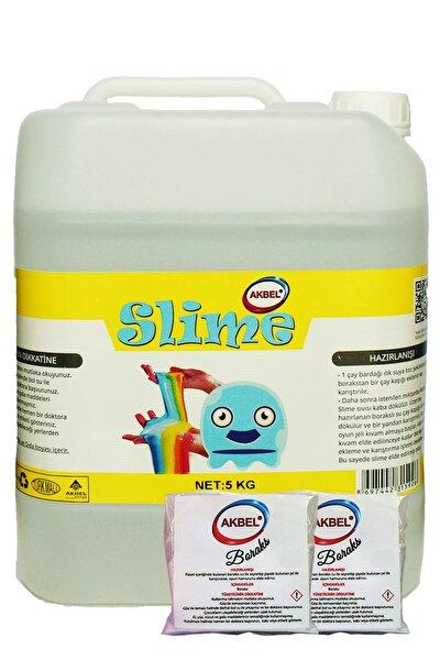 Slime Şaka Hamuru Boyasız Şeffaf 5 Kg+200 gr Boraks