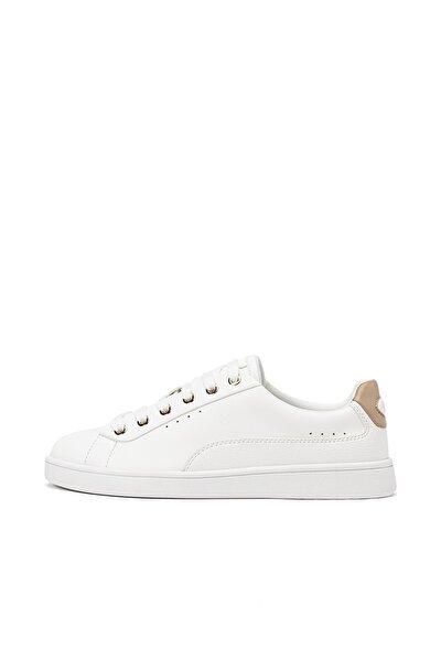 Kadın Beyaz Topuk Parçası Detaylı Spor Ayakkabı 19013770