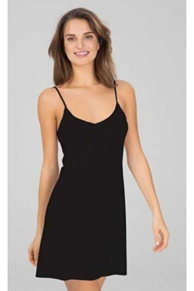 Kadın Siyah  Elbise Jipon Astar 3851