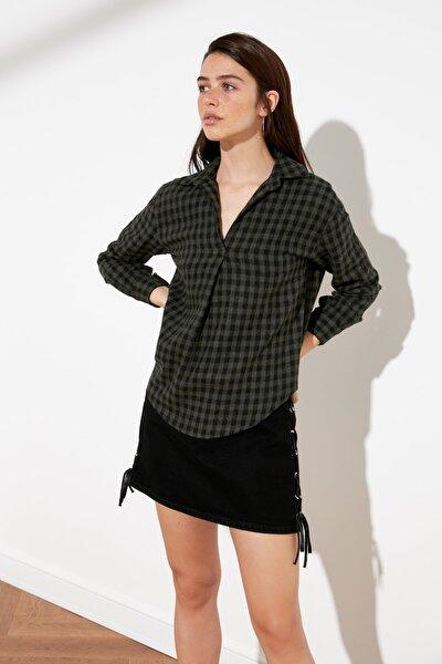 Haki Kareli Gömlek TWOAW21GO1033