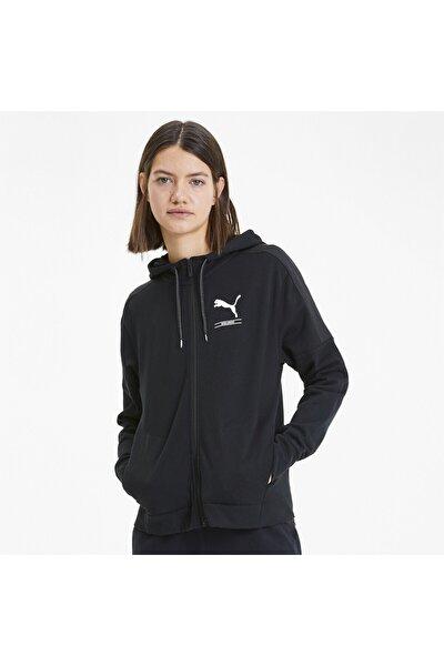 Kadın Siyah Nu-tılıty Fermuarlı Kapüşonlu Ceket