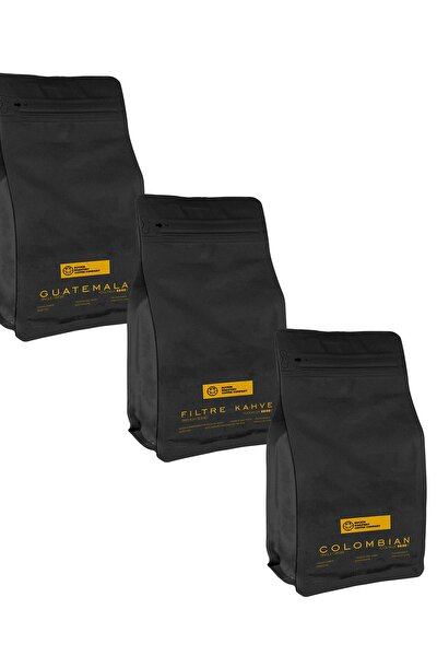 Colombia,guatemala Ve Filtre Kahve 3x200 Tanışma Paketi Kahve Makinesi Ve French Press Uyumlu