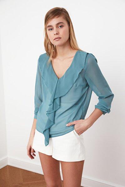 Mint Volanlı Bluz TWOSS21BZ0221
