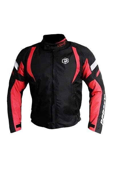 Malibu Dört Mevsim Motosiklet Montu Siyah Kırmızı