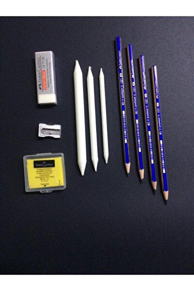 Dereceli Resim Kalemi Seti 2b 4b 6b 8b, Hamur Silgi , Kalemtraş, Dağıtma Kalemleri ,silgi