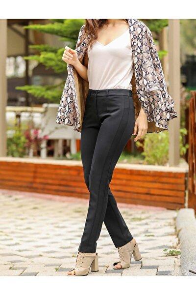 Kadın Yanı Parçalı Basic Pantolon