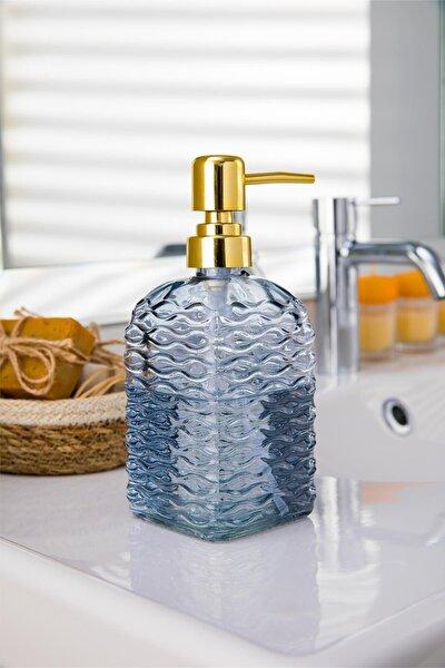 Kare Cam Sıvı Sabunluk, Dekoratif Mutfak Sabunluk 490ml