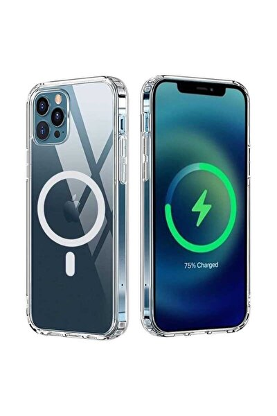 "Apple Iphone 12 Pro Max Kılıf 6.7"" Magsafe Wireless Kapak Şeffaf"