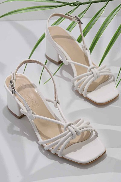 Beyaz Kadın Klasik Topuklu Ayakkabı K05888028509