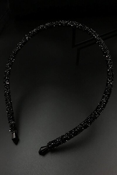 Siyah Renk Kristal Günlük Kullanım Tacı