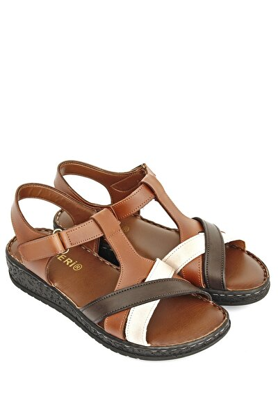 Taba Antiğe Bej Kadın Sandalet 45331
