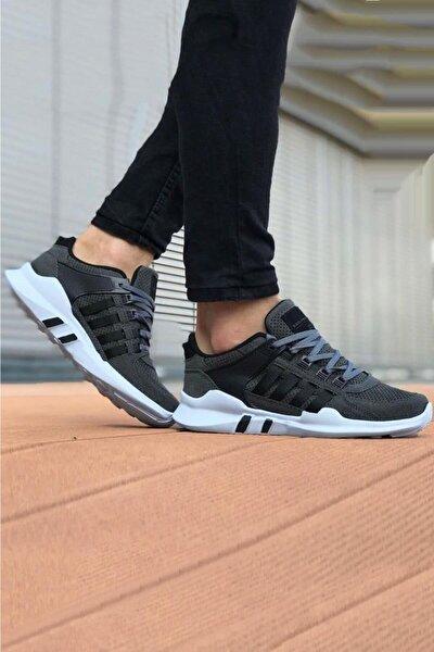 Füme Çizgili Spor Ayakkabı