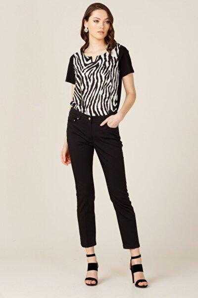 Kadın Siyah Klasik Kesim Pantolon 2058