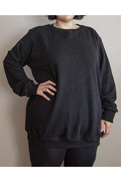 Kadın Büyük Beden Yuvarlak Yaka Sweatshirt