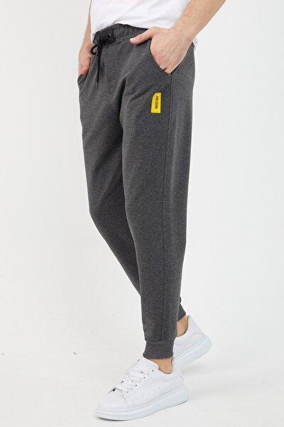 Erkek antrasit günlük eşofman altı jeans fashion