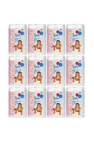 Bebek Temizleme Pamuğu 60 Adet X 12 Paket