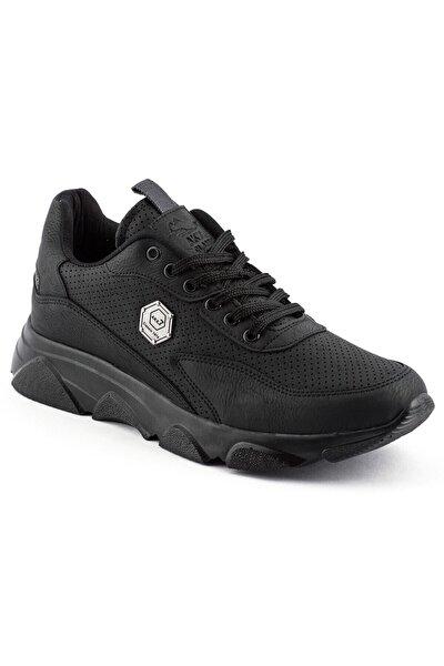 Erkek Siyah Renk Siyah Taban Spor Ayakkabı
