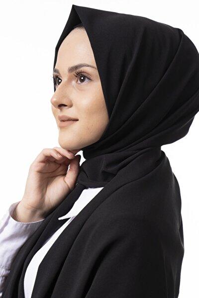 Kadın Mat Black Medine Ipeği Şal
