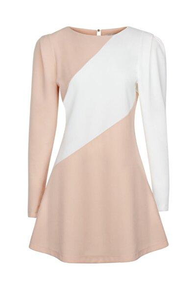 Omuz Detaylı Mini Elbise