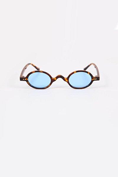 Küçük Leopar Çerçeveli Mavi Güneş Gözlüğü