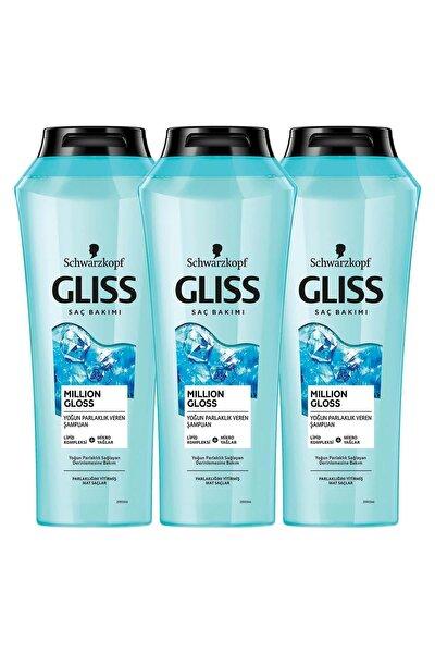 Million Gloss Yoğun Parlaklık Veren Şampuan 360 ML 3'lü
