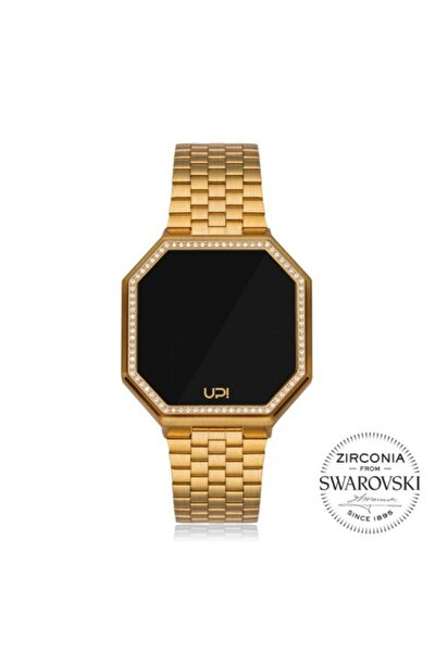 Upwatch Edge Bıg 42 Mm Swarovskı Matte Gold Bayan Kol Saati