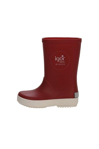 W10107 -F41 Kırmızı Unisex Çocuk Yağmur Çizmesi 100317971
