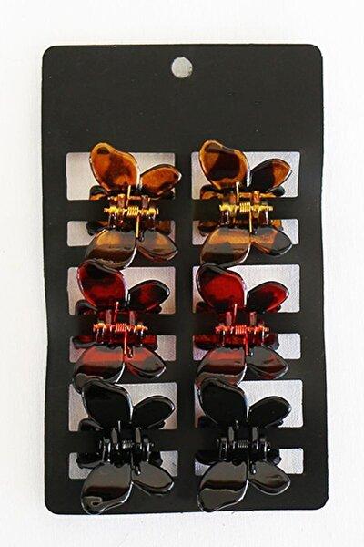 6'lı Kadın Kelebek Model Renkli Mandal Saç Toka Seti