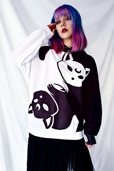 Yinyang Kedi Oversize Sweatshirt
