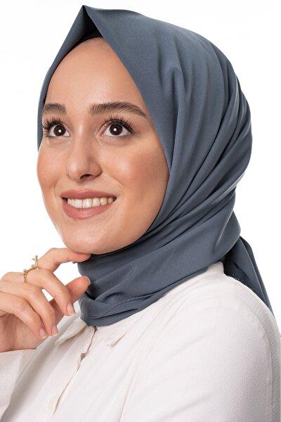 Kadın Antrasit Trend Medine Ipeği Şal