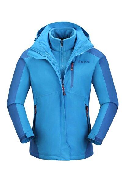Sparkle Kadın 3İn1 Mont Mavi