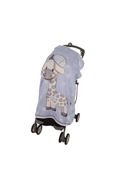 Pano Baskılı Müslin Bebek Arabası Örtüsü Art-315 Zürafa