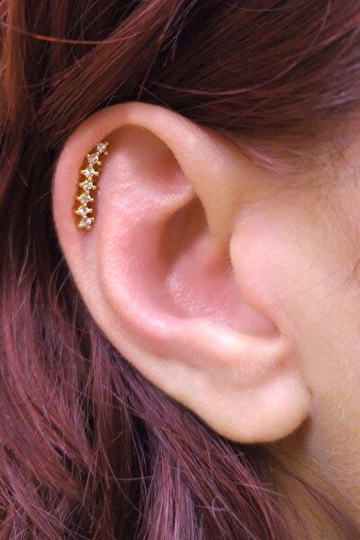 Cerrahi Çelik Gold Renk Helix Kıkırdak Piercing Slypg7