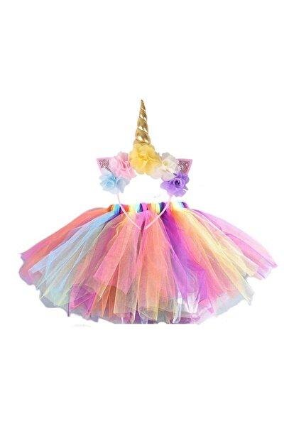 Unicorn Taç Tütü Etek Seti.doğum Günü Parti Kostüm 2 Liset