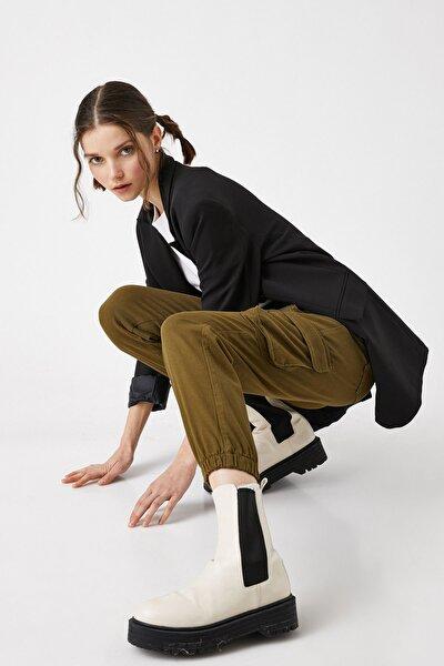 Kadın Haki Jeans