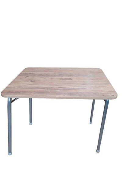 Pratik Katlanır Ayak Mutfak Yemek Masası Balkon Ders Çalışma Piknik Masa 60x80cm Ceviz
