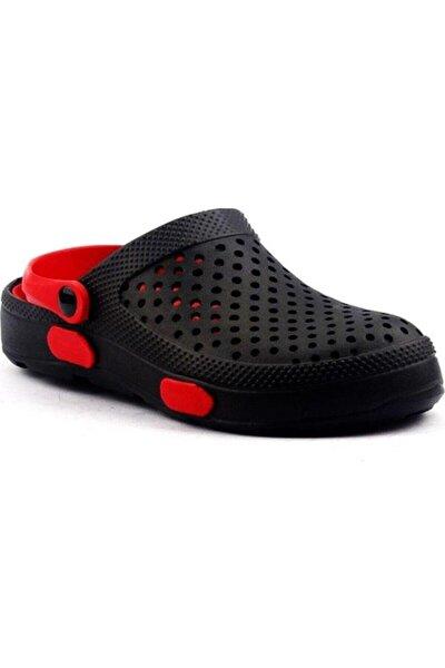 Unisex Siyah Kırmızı Terlik 3149