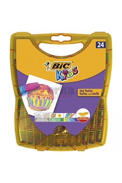 Bıc Kids Yağlı Pastel Boya 24'lü Sert Plastik Kutu
