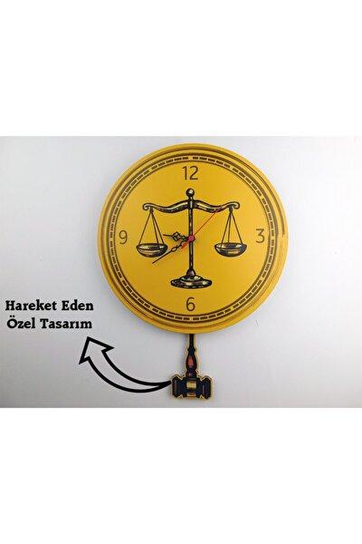 Avukat Ve Hukuk Hareketli Duvar Saati