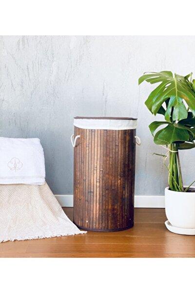 Bambu Katlanabilir Çamaşır Sepeti 35 X 61 Cm