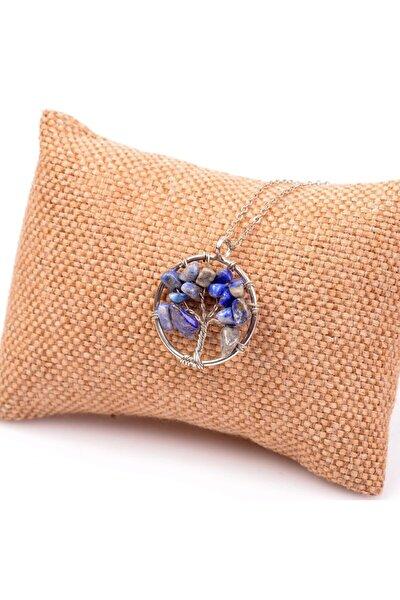 Lapis Lazuli Taşı Hayat Ağacı Kolye